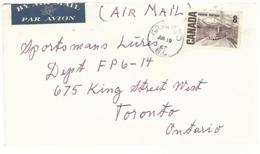 56308 ) Canada  Grindrod Postmark 1967   Air Mail - Brieven En Documenten