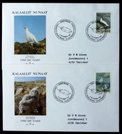 Greenland 1987 BIRDS (I)  MiNr.176-77   FDC ( Lot KS) - FDC
