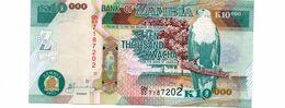 ZAMBIA 10.000 KWACHA  PICK 46h UNCIRCULATED - Zambia