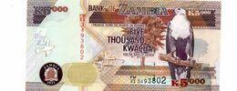ZAMBIA 5.000 KWACHA  PICK 45g UNCIRCULATED - Zambia
