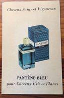 Plaque Publicitaire Carton   PANTENE BLEU  Pour Cheveux Gris Et Blancs - Laboratoires Du PANTENE -Parfumerie 21.5 X 33.5 - Plaques En Carton