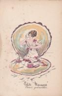 "Llustrateur Santini.""""Petite Marennes """"..Aquarelles Fantaisies Feminines.No 3034  (lot Pat 117) - Autres Illustrateurs"