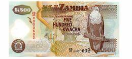 ZAMBIA 500 KWACHA  PICK 43h UNCIRCULATED POLYMEER - Zambia
