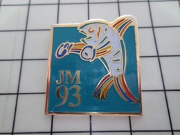 1520 Pin's Pins / Beau Et Rare / THEME : SPORTS / JEUX MEDITERRANEENS 93 BOXE POISSON BOXEUR !!! - Boxeo