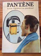 Plaque Publicitaire Carton Années 50     PANTENE BLEU  Lotion Capillaire Au Panthéol  24.5 X 33.5 - Paperboard Signs