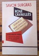 Plaque Publicitaire Carton Années 50   Savon Surgras ROGE CAVAILLES  - Parfumerie    26.5 X 40 - Paperboard Signs