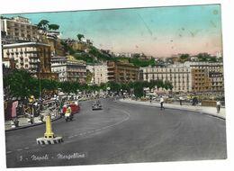 6925 - NAPOLI MERGELLINA ANIMATISSIMA AUTO 1957 - Napoli (Naples)