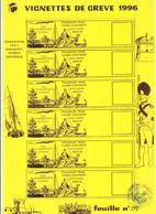 Timbre De Gréve Bastia 1996 Superbe état Feuille De  Vignettes - Strike Stamps