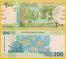 Sudan 200 Pounds P-new 2019 UNC Banknote - Sudan