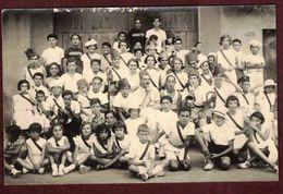Carte Photo à Identifier Photo Groupe Enfants Clique Fanfare  Tambour  Festivité Association Musicale Fête  - 2 - - Cartoline