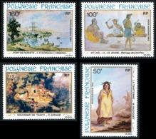 POLYNESIE 1982 - Yv. PA 170 171 172 Et 173 **   Cote= 16,50 EUR - Peintures Du 19e S. (4 Val.)  ..Réf.POL25212 - Poste Aérienne