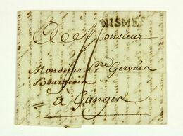 Linéaire NISMES Sur LAC 1790 Pour Ganges En Port Du, Taxe 4 Sols - Marcophilie (Lettres)