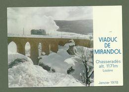 CARTE POSTALE LOZERE 48 CHASSERADES VIADUC DE MIRANDOL SOUS LA NEIGE JANVIER 1978 - France