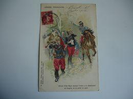Armee Francaise  Officier Etat Major Donnant Ordre Detachement De Dragons - Guerre 1914-18
