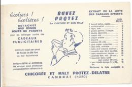 Buvard Chicorée Et Malt Protez Delatre - Cambrai Nord - 5 Buvards - Food