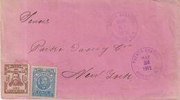 "HONDURAS : DE "" SANTA BARBARA "" . POUR LES USA . 1915 . - Honduras"