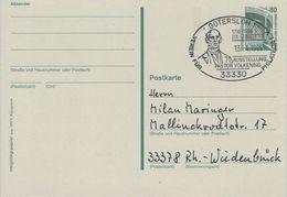 Johann Heinrich Volkening War Ein Deutscher Evangelischer Theologe In Minden - 33330 Gütersloh - Ganzsache 1995 - Theologen