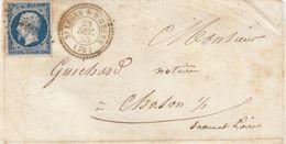 LETTRE. DEVANT. PERLÉ T22. St LEGER-S-D'HEUNE. SAONE-ET-LOIRE. PC 3890. POUR CHALON-S-SAONE     /  2 - Marcophilie (Lettres)