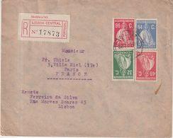 """PORTUGAL : REC . DE """" LISBONNE """" . POUR LA FRANCE . 1928 . - 1910 - ... Repubblica"""