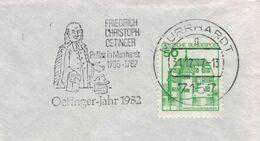 Friedrich Christoph Oetinger Deutscher Theologe & Führender Vertreter Württembergischer Pietismus - Murrhardt 1982 - Theologen
