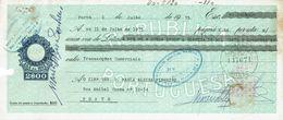 Portugal Casa Da Moeda , 1975 , Letra , Bill Of Exchange , Used , Tax Revenue  2$00 , Embossed Seal , Watermark - Letras De Cambio