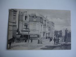 Cpa 62 Wimereux Entree Rue Carnot Animation - Andere Gemeenten