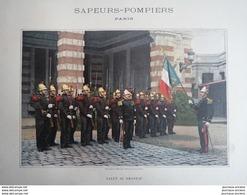 1890 ALBUM MILITAIRE - SAPEUR POMPIERS PARIS - LIVRAISON N° 10 - Books, Magazines, Comics