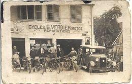 CPA Cycles Autos Réparations G. Verdier Location De Motos - Ansichtskarten