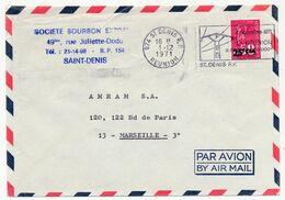 REUNION - Enveloppe Affr 25F/0,50 Marianne De Bequet - OMEC - Saint Denis 1971 - Réunion (1852-1975)