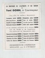 Gobbi Courmayeur Boutique Alpiniste Et Du Skieur Grivel Allain Vibram Joanny Cassin Merlet Fussen Viking Guida - Pubblicitari