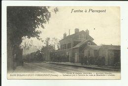 80 - Somme - Gare D'Hargicourt- Pierrepont - Arrivée Du Train De Montdidier- Amiens .- Train - Chemin De Fer - - Other Municipalities