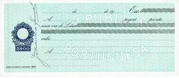 Portugal Casa Da Moeda , 1960 's , Letra , Bill Of Exchange ,  Used  , Tax Revenue  5$00 , Embossed Seal , Watermark - Letras De Cambio