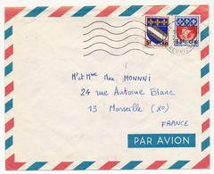 REUNION - Envel. Affr Composé 15F /0,30 Blason De Paris + 5F/0,10 Blason De Troyes - Le Port - 1969 - Reunion Island (1852-1975)