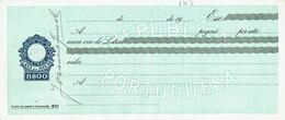 Portugal Casa Da Moeda , 1960 's , Letra , Bill Of Exchange ,  Used  , Tax Revenue  8$00 , Embossed Seal , Watermark - Letras De Cambio