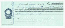 Portugal Casa Da Moeda , 1974 , Letra , Bill Of Exchange ,  Used  , Tax Revenue  9$00 , Embossed Seal , Watermark - Letras De Cambio