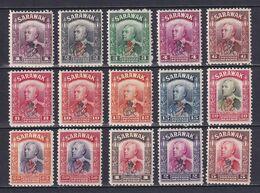 SARAWAK 1947, SG# 150-164, CV £24, Charles Vyner Brooke, MH - Sarawak (...-1963)