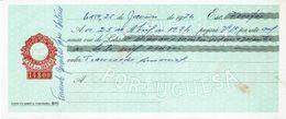 Portugal Casa Da Moeda , 1974 , Letra , Bill Of Exchange , Used , Tax Revenue  14$00 , Embossed Seal , Watermark - Letras De Cambio