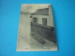 Carte Postale  Essonne Corbeil Inondations De 1910 Restaurant De L'Accacia Dans L'eau - Corbeil Essonnes