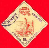 CUBA - Usato - 1962 - INDER Istituto Nazionale Dello Sport - Pallanuoto - 10 - Gebraucht