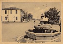 Emilia Romagna - Rimini - S. Mauro A Mare - La Fontana E Viale Pascali  - F. Grande - Viagg. - Anni 50 - Molto Bella - Autres Villes