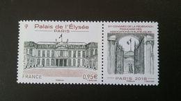 France Timbre NEUF N° 5221 - Année 2018 - Palais De L'Elysée (avec Vignette) - France