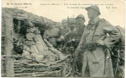 VAUQUOIS - UNE BATTERIE De CRAPOUILLOTS Dans Une TRANCHEE De 1 ère LIGNE - - Weltkrieg 1914-18