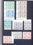 Een Lot Dienstzegels Type Velghe  2 Scans Papiersoorten + Drukdata - Servicio