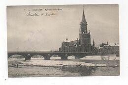 Cpa 54 BACCARAT L'église Et Le Grand Pont En Hivers - Baccarat