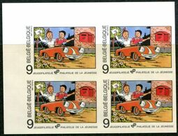 13187466 BE 19871003; Phil. Jeunesse, BD, Bob Et Bobette; Bl4 ND Cob2264 N°265à268 - Belgique