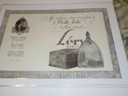 ANCIENNE PUBLICITE PARFUM BELLE JOLIE DE LERYS 1925 - Perfume & Beauty