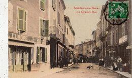AMBERIEU-EN-BUGEY LA GRANDE RUE (CARTE  COLORISEE) - Autres Communes