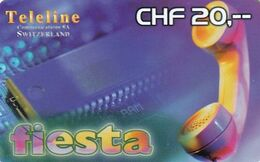 SWITZERLAND - Fiesta, Teleline Prepaid Card CHF 20, Exp.date 31/12/01, Used - Svizzera