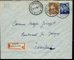 Doc. De LEUZE - LONGCHAMPS - A A - Du 31/12/53 En Rec. ( E ) - Marcophilie