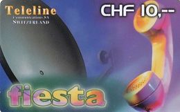 SWITZERLAND - Fiesta, Teleline Prepaid Card CHF 10, Exp.date 31/10/01, Used - Svizzera